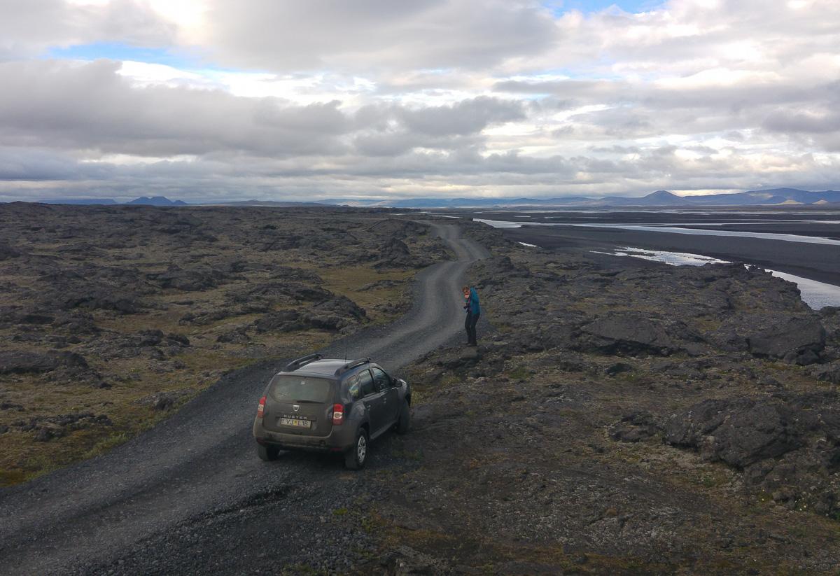 Askja, Islandia, droga