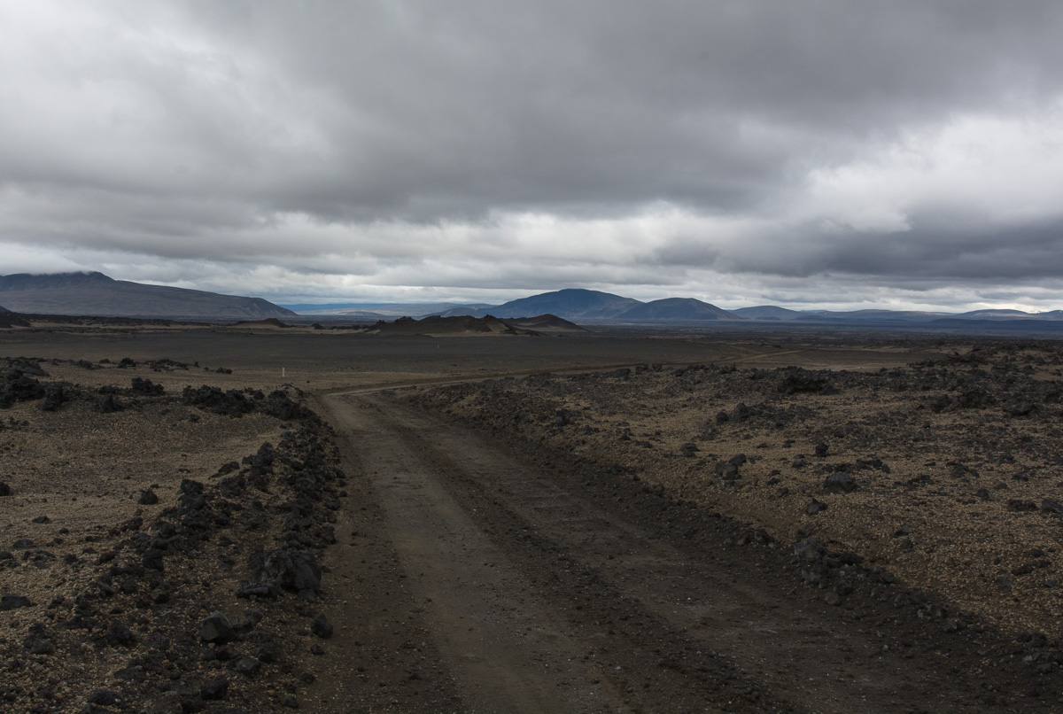 Odaðahraun, Islandia, droga do Askji