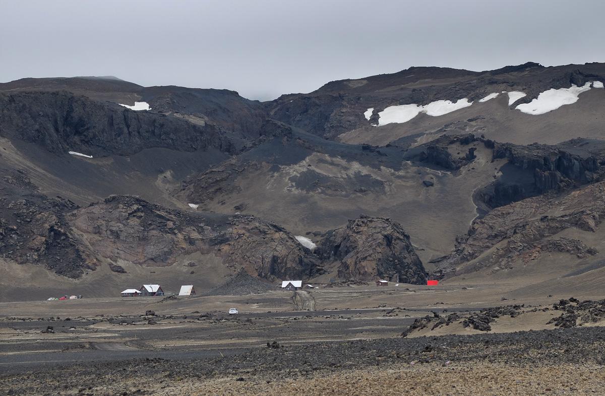 Askja, Islandia, chata noclegowa
