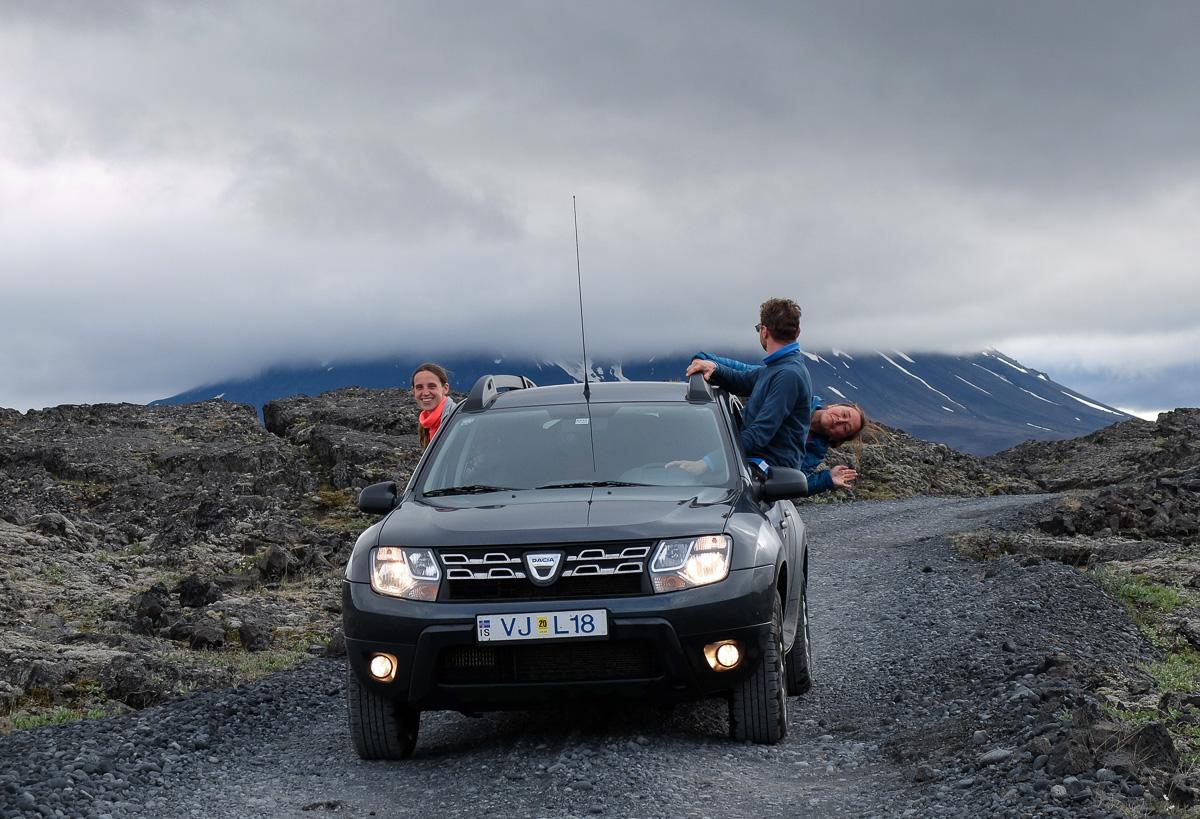 Askja, Islandia, drogi w interiorze