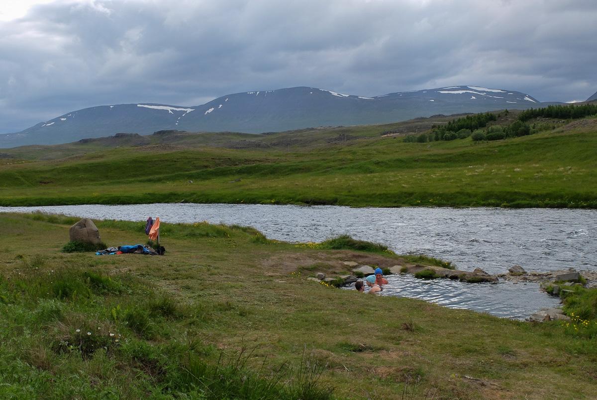 Fosslaug, dzikie gorące źródła, Islandia