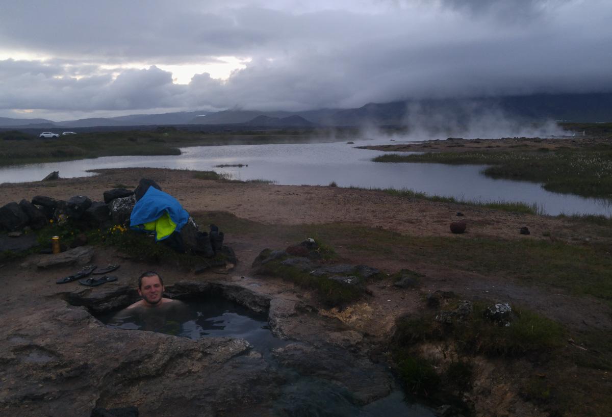 dzikie gorące źródło Landbrotalaug Islandia