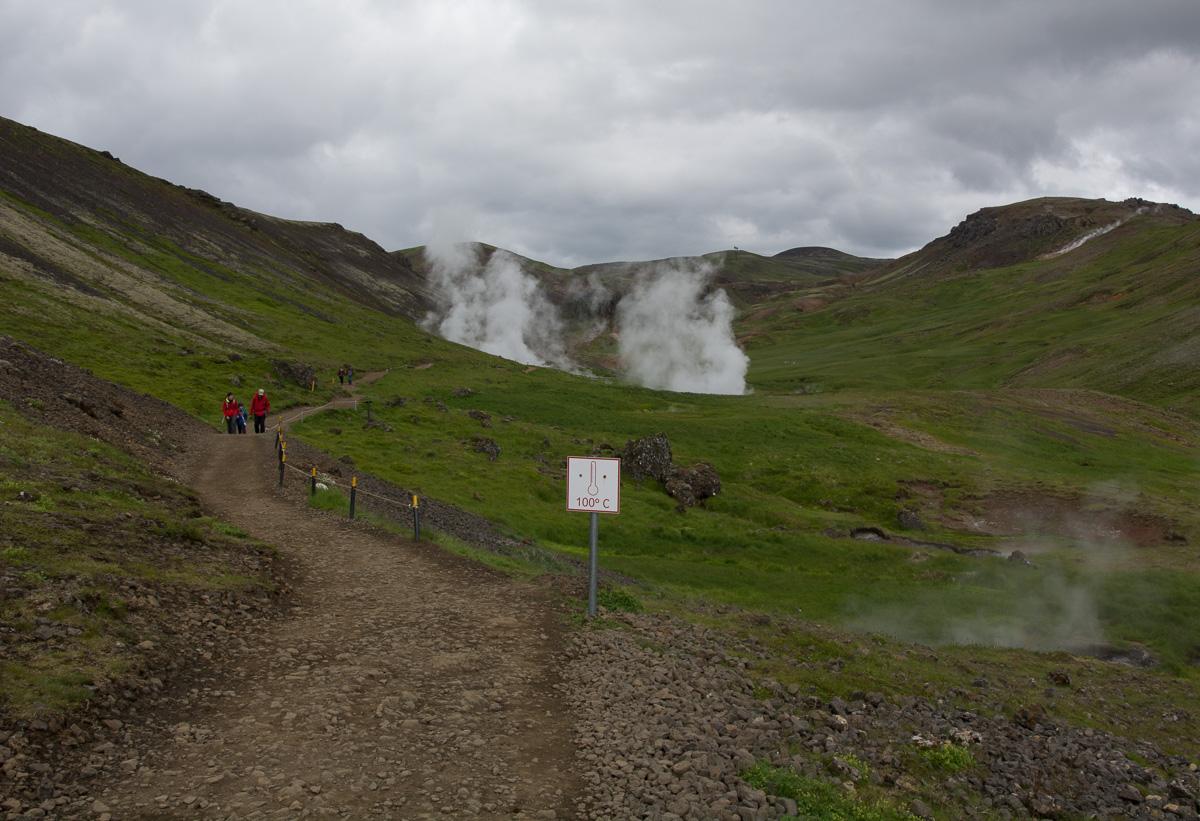 Reykjadalur, gorąca rzeka, Islandia