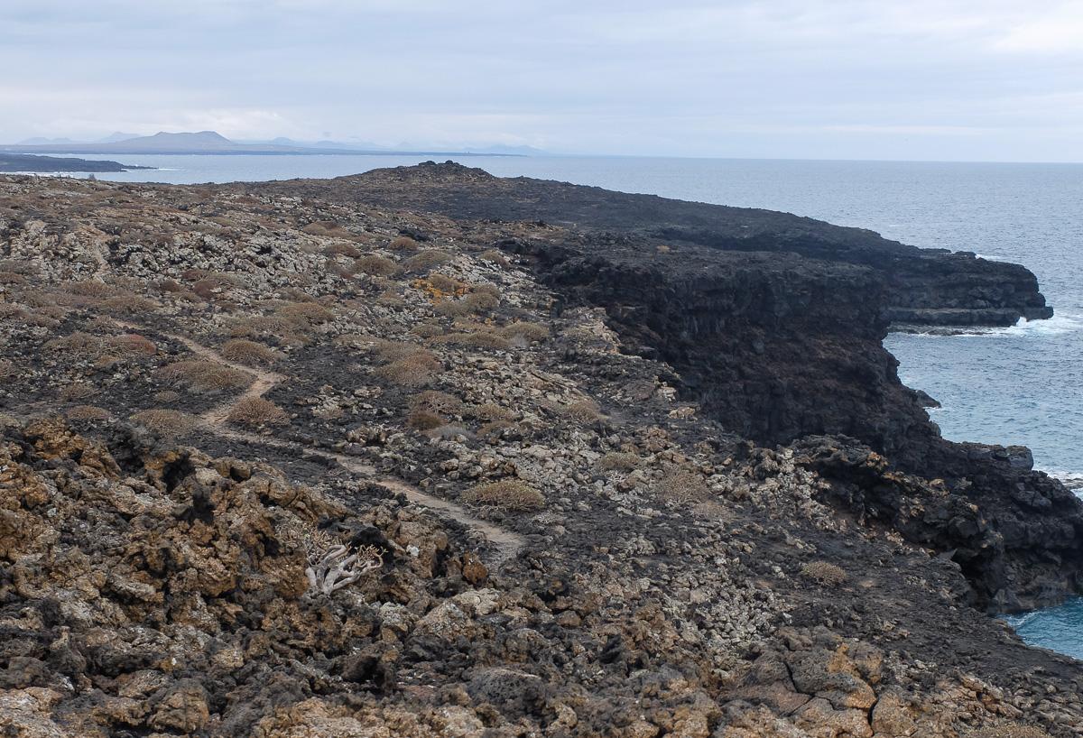 Lanzarote, Timanfaya Park, szlaki piesze, Ruta del Litoral