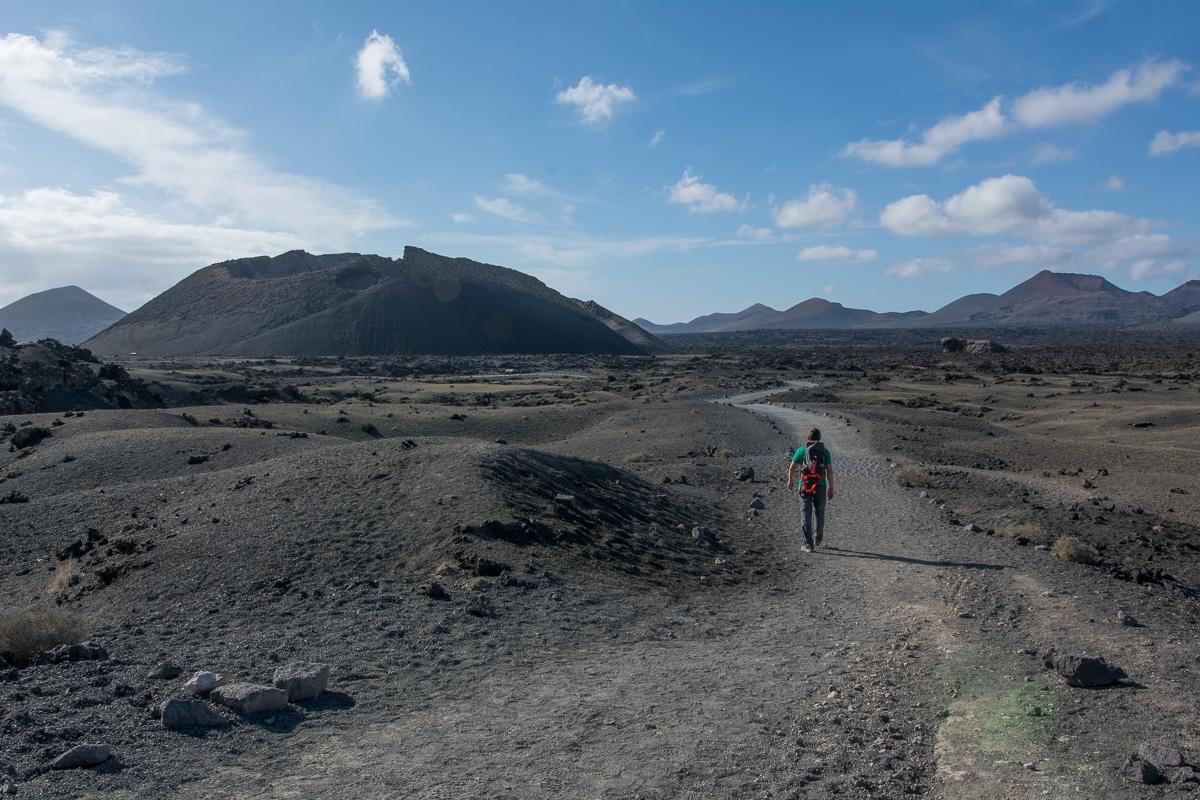 Wyspy Kanaryjskie, Lanzarote, szlaki piesze, Volcán El Cuervo