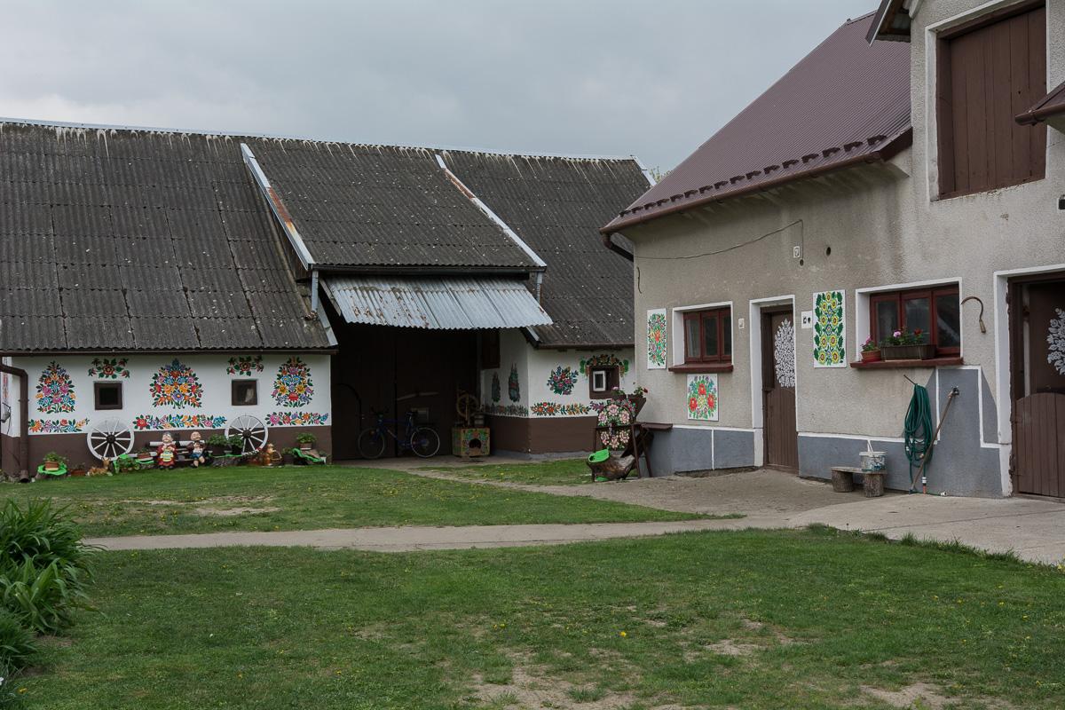 Zalipie, malowane domy