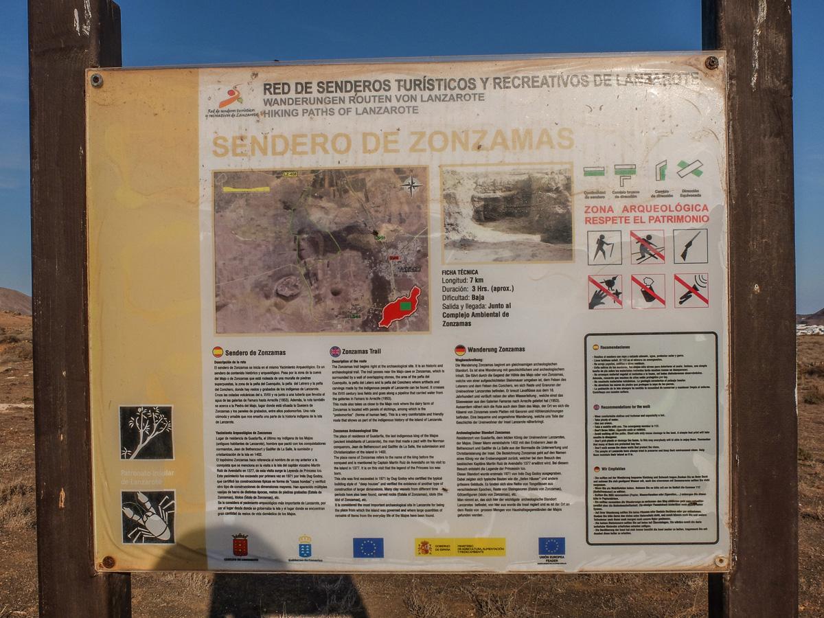 atrakcje Lanzarote, szlaki, tablice informacyjne