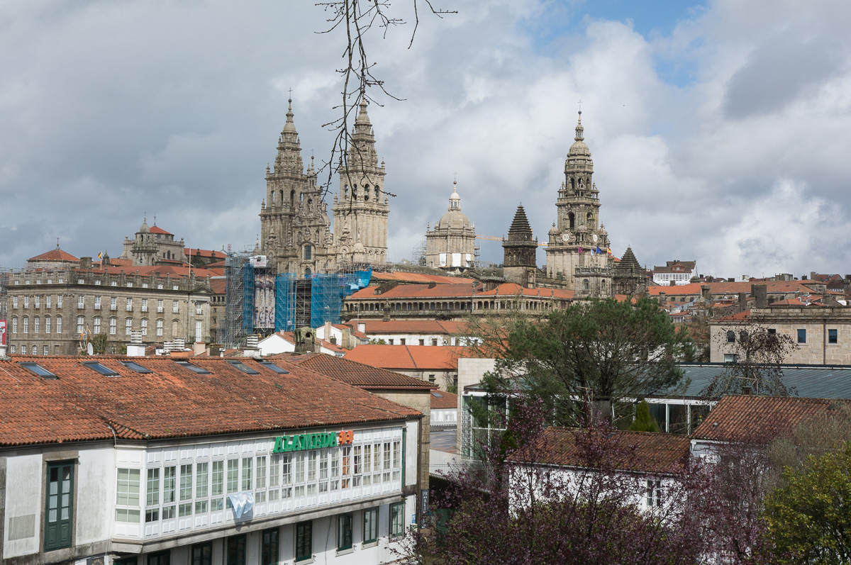Santiago de Compostela, widok z Parku Alameda