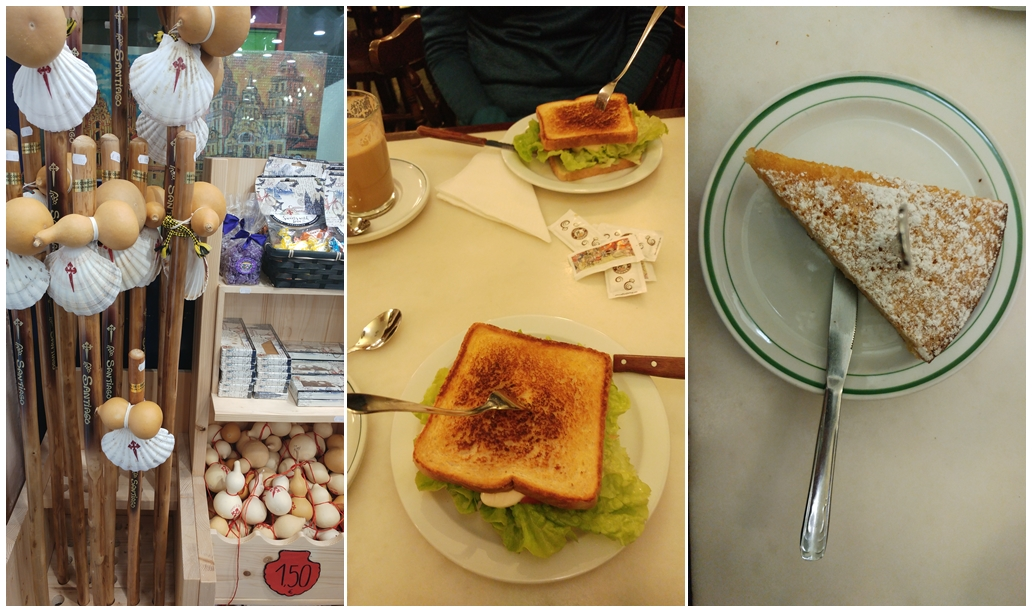 jedzenie i pamiątki z Santiago