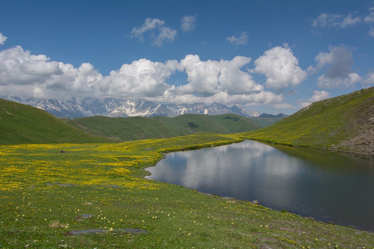 Góry Swaneckie, okolice Uszguli, Gruzja