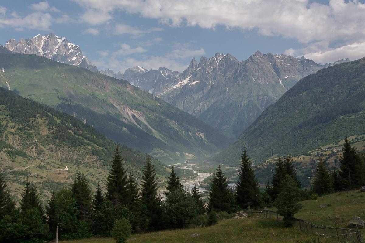 trekking Mestia - Uszguli, Swanetia, Gruzja góry, Uszba