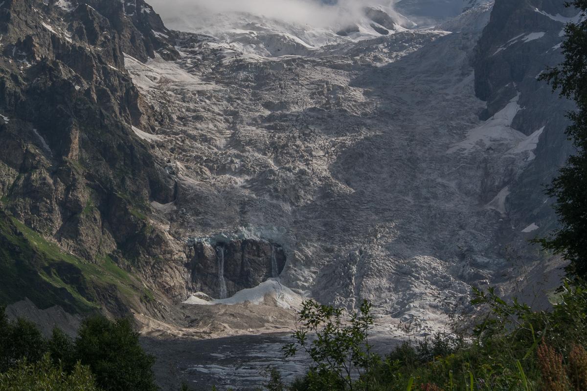 lodowiec Adiszi Gruzja Swanetia