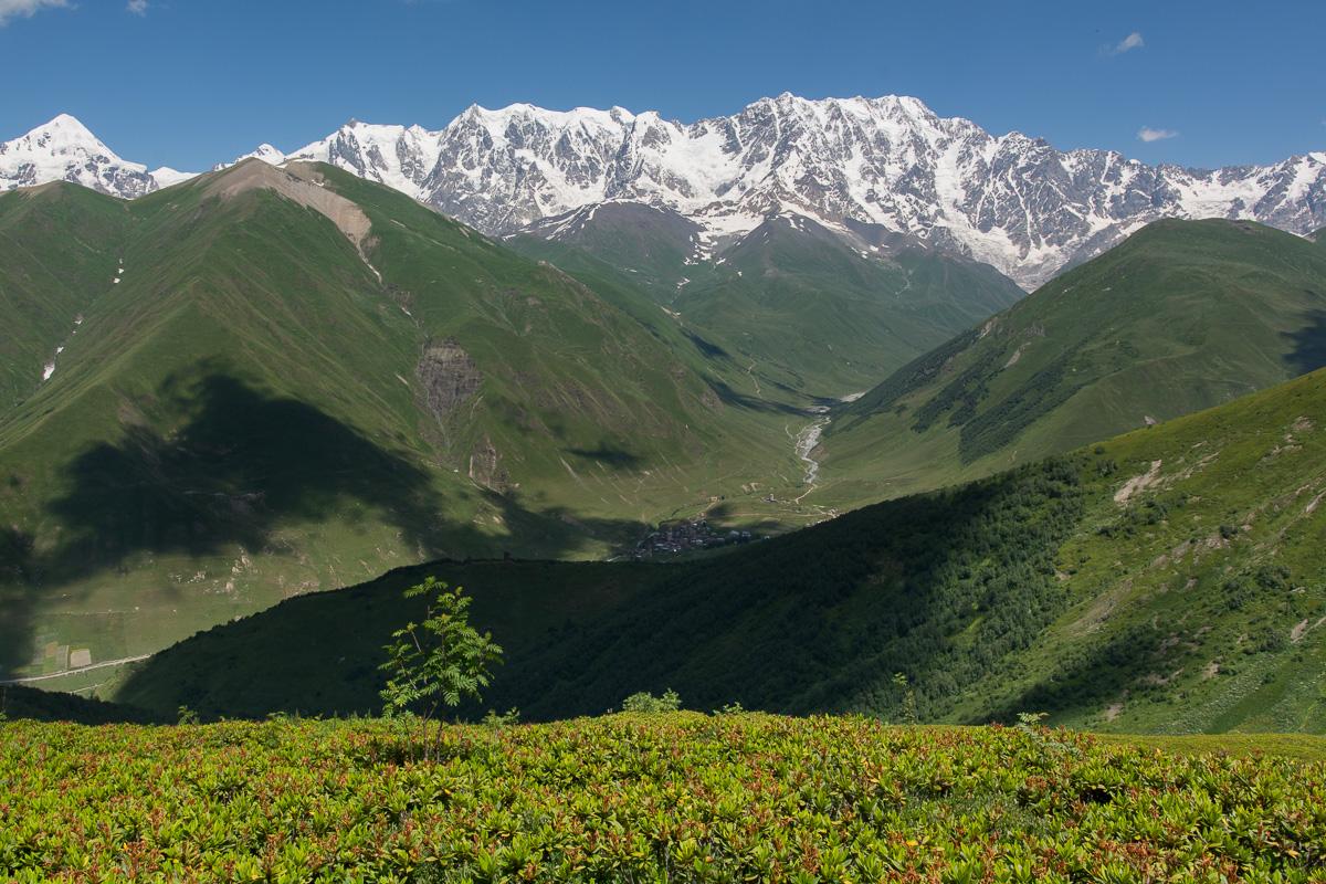 Góry Swaneckie - szlak Uszguli- przełęcz Latpari