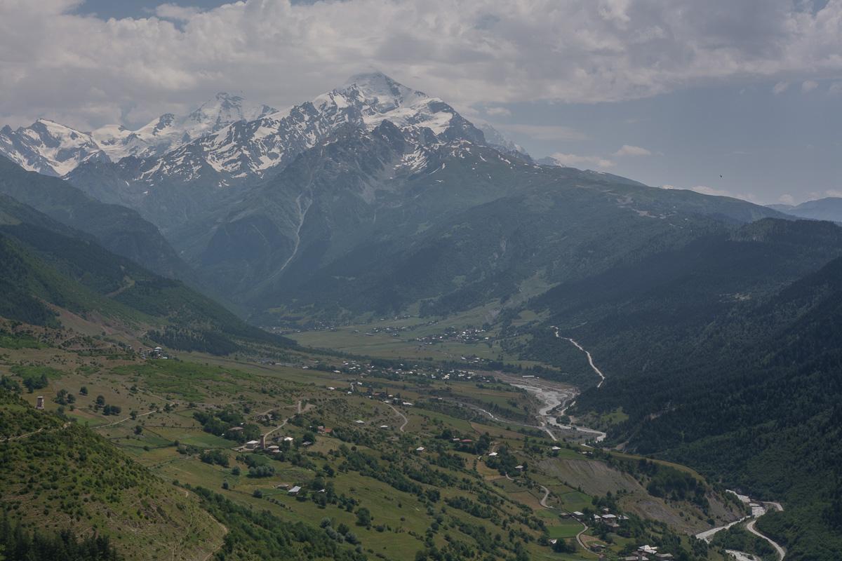 widok na Zabeszi, Swanetia, Gruzja, Kaukaz