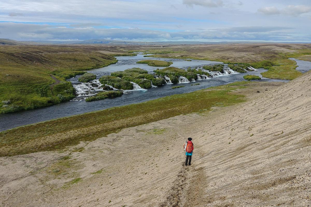 szlak Hellismannaleid, Islandia, Fossabrekkur