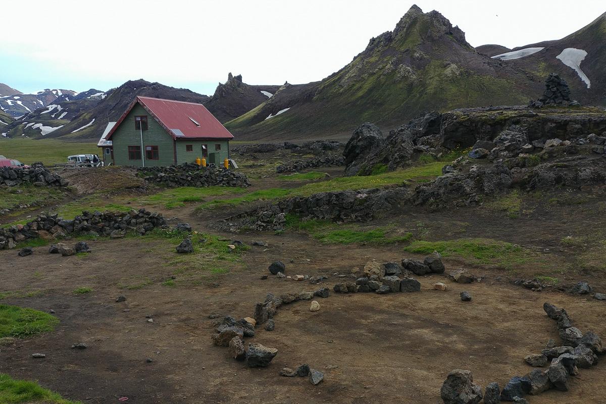 Hvanggi, Islandia, kemping