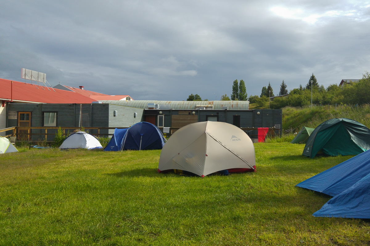pola namiotowe na Islandii