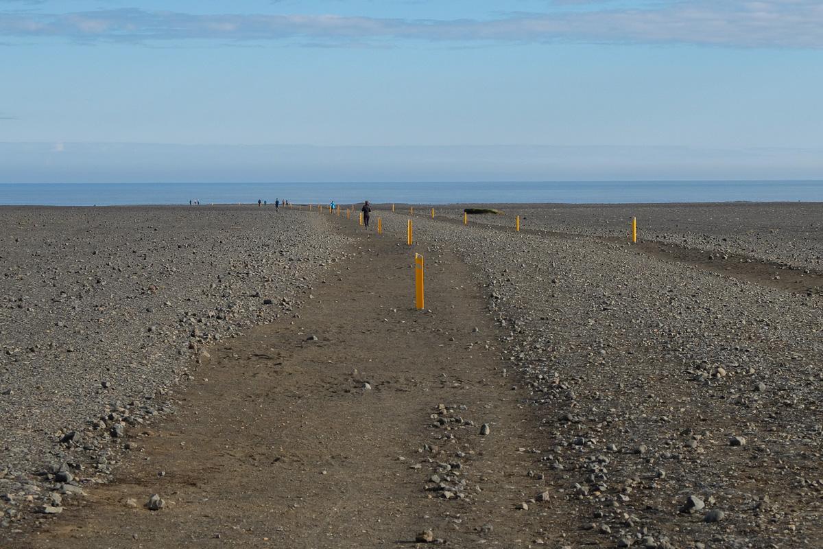 trasa do wraku samolotu, Islandia