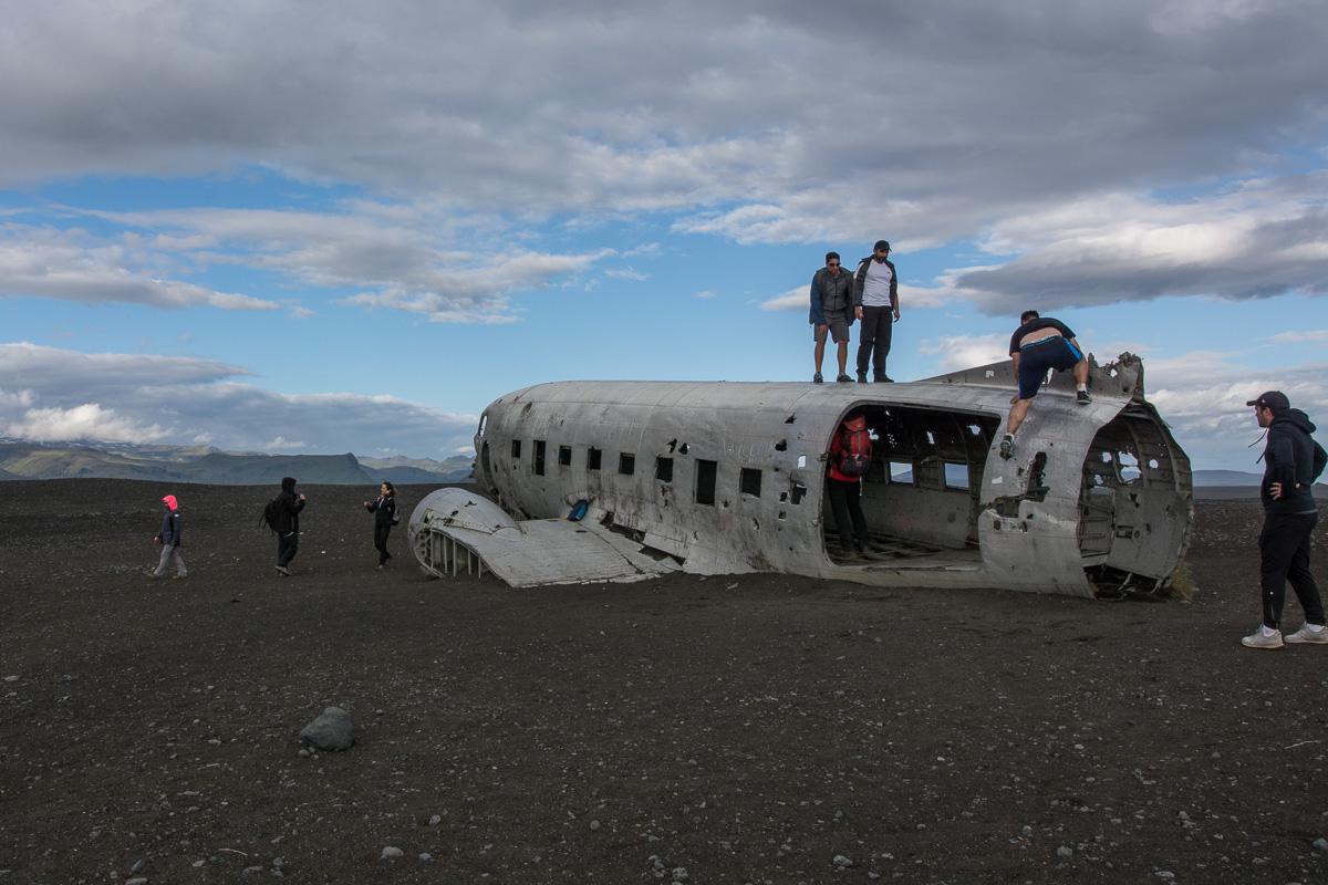 DC-117 Douglas Dakota, wrak statku, Islandia