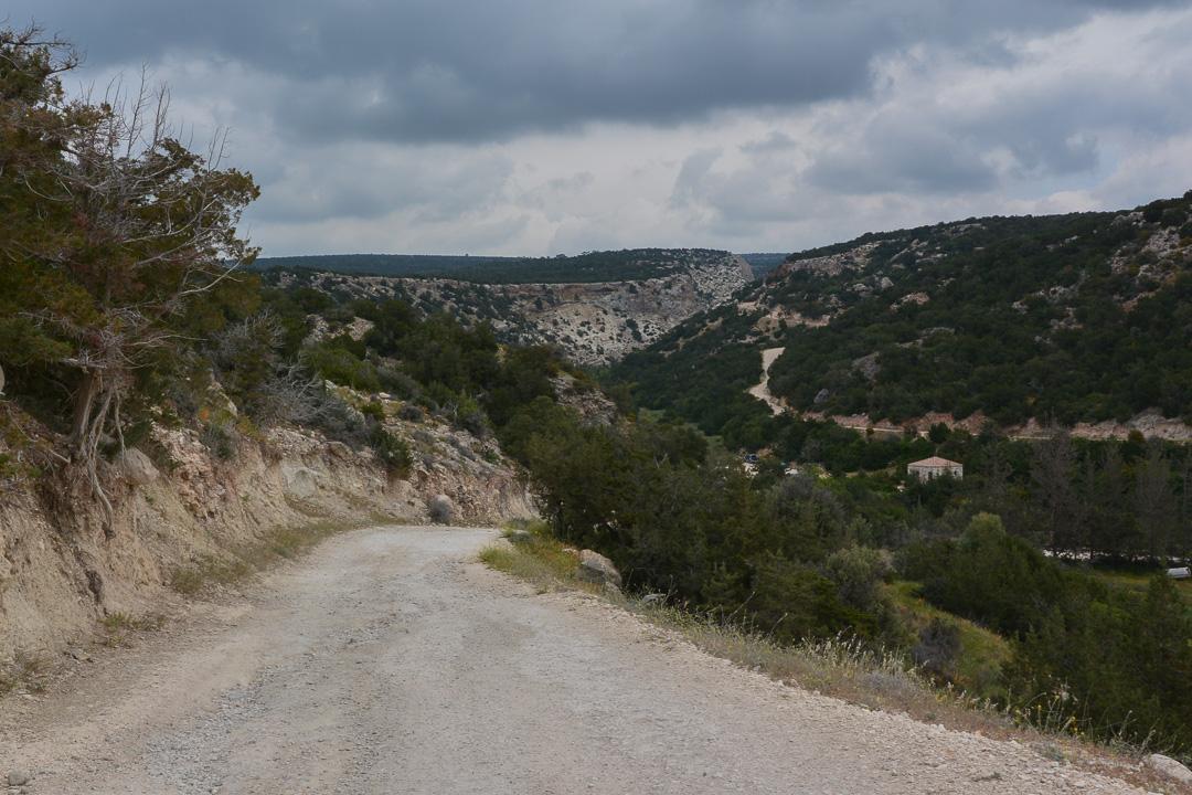 droga do wąwozu Avakas na Cyprze