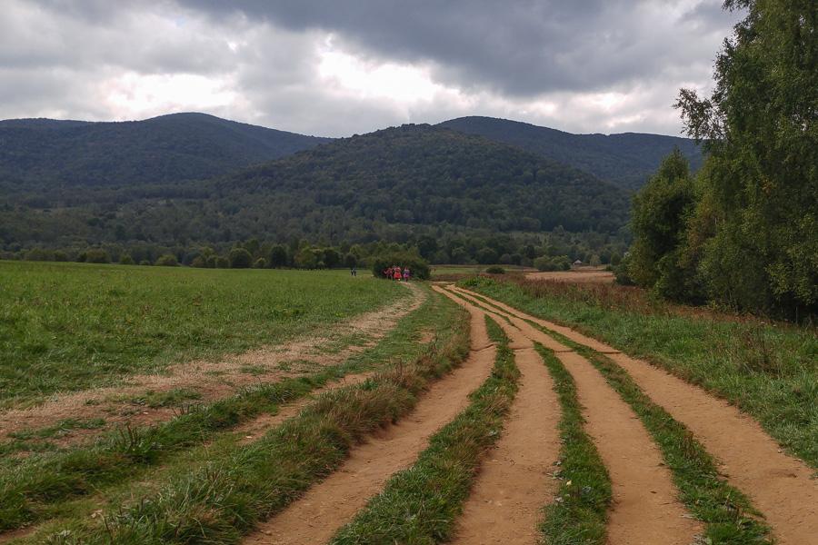 Wołosate, rozdeptany szlak na Tarnicę