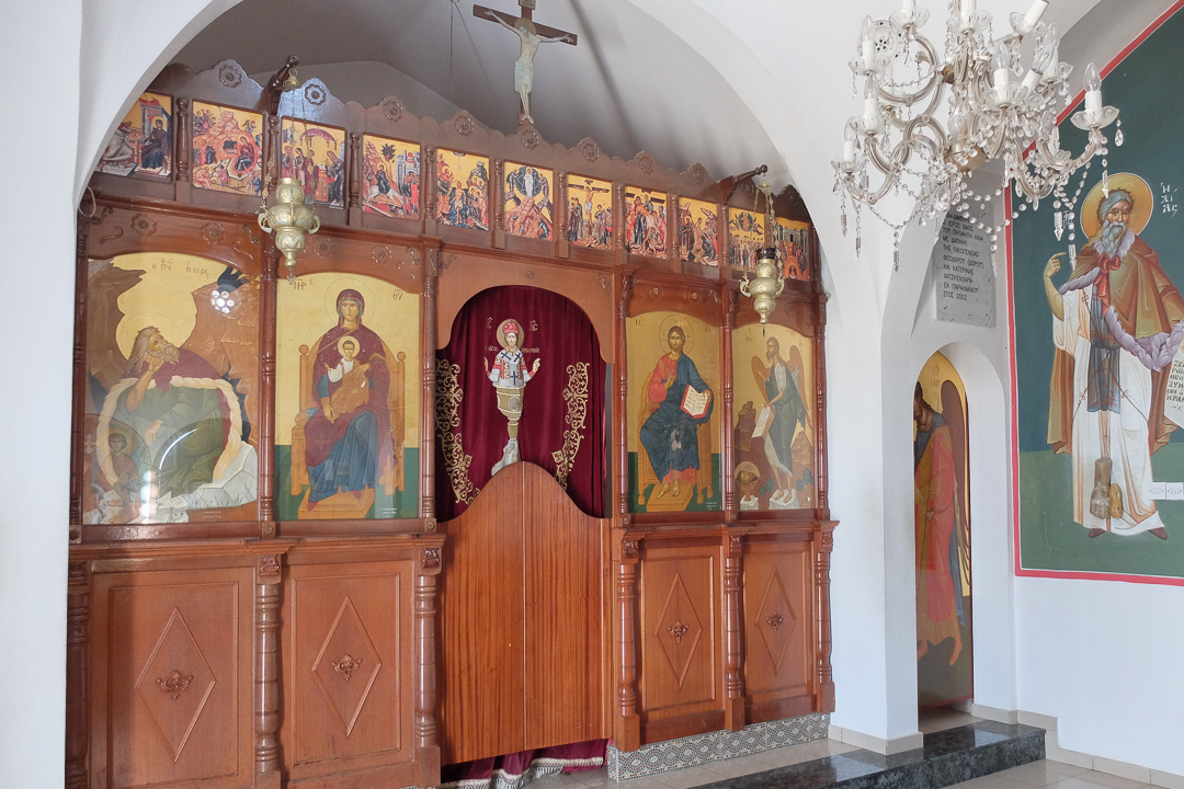 Cypr, Protaras, kaplica św. Eliasza, wnętrze