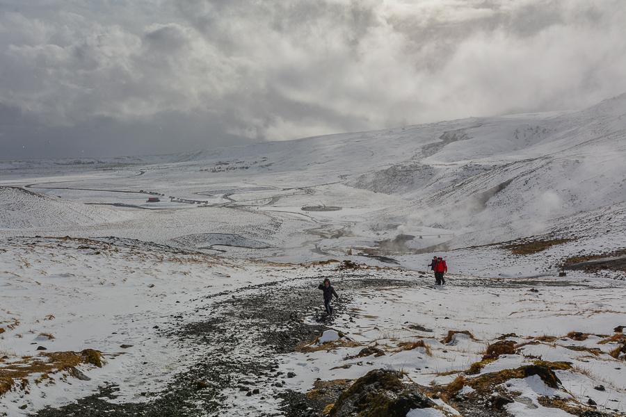 Reykjadalur – gorąca rzeka zimą i latem