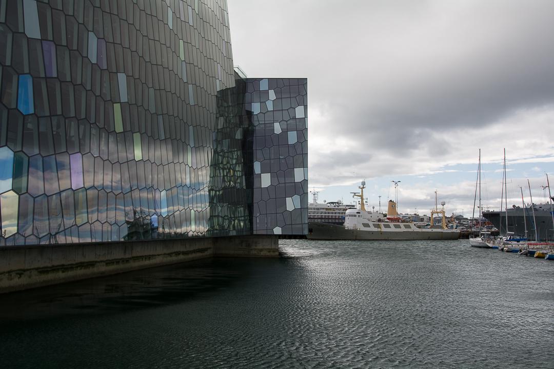 Harpa od strony starego portu, Reykjavik
