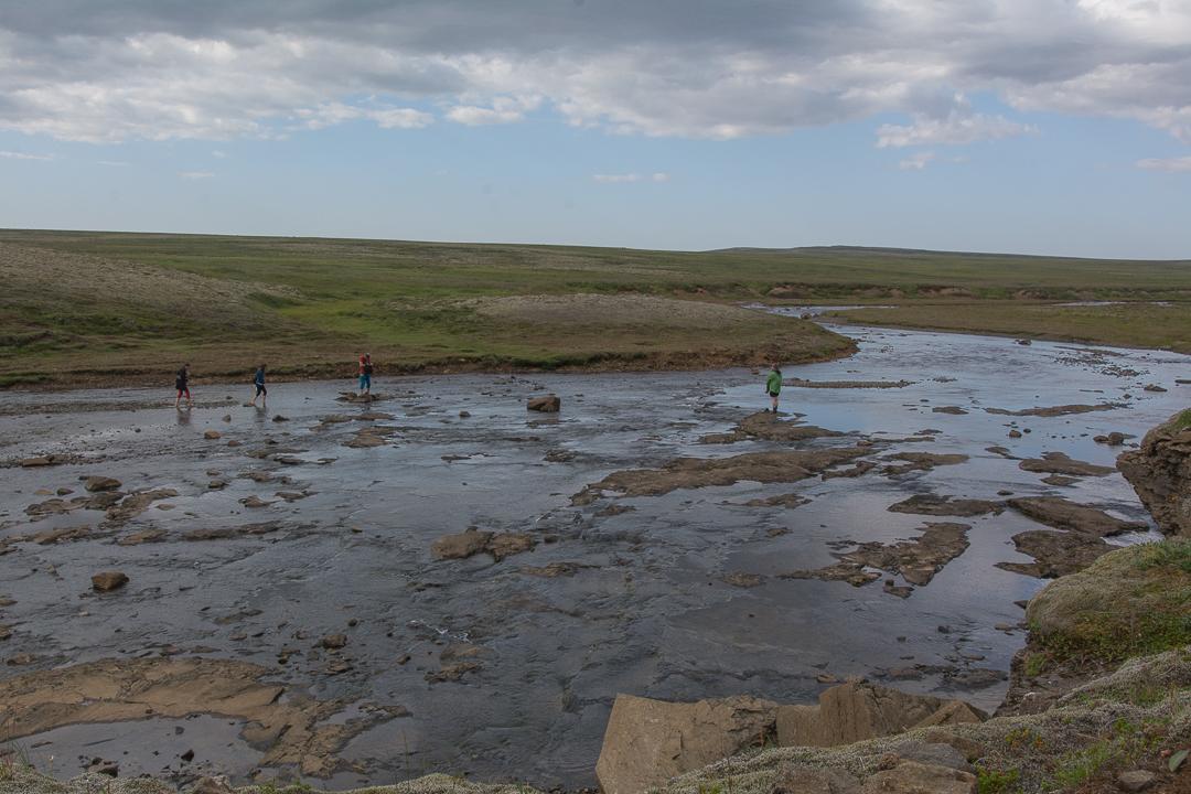 rzeka Botnsa powyżej wodospadu Glymur