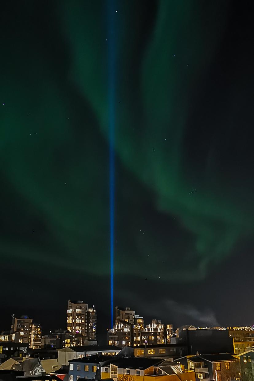 zorza polarna, Islandia, Reykjavik