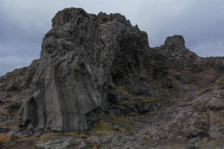 wąwóz Gjain, trolla skała, Islandia, Þjórsárdalur
