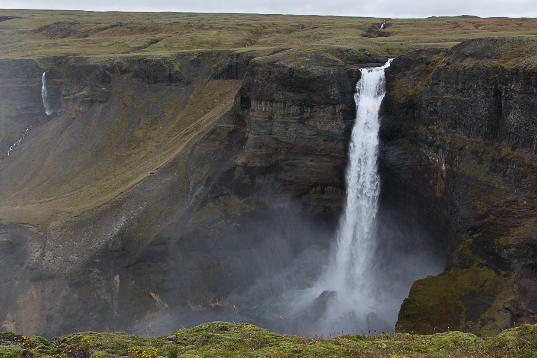wodospad Haifoss, Þjórsárdalur, Islandia