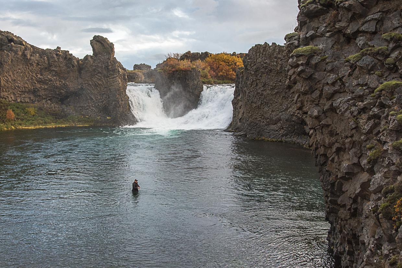 wodospad Hjalparfoss, Islandia, Þjórsárdalur
