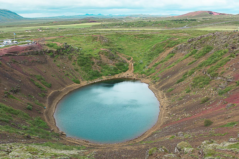 krater Kerið latem, Islandia
