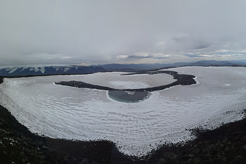 Okjokull, jezioro Blavatn, Islandia