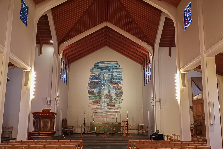 wnętrze katedry Skálholtskirkja na Islandii