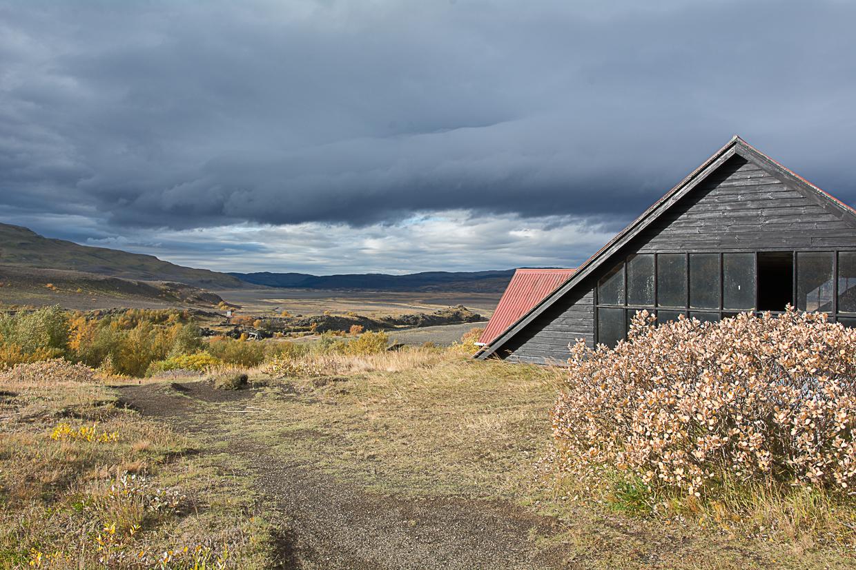 Stong, ruiny domu wikingów, wąwóz Gjain, Þjórsárdalur