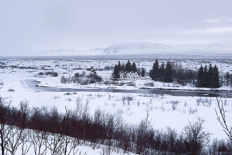 Golden Circle, Złoty Krąg na Islandii, Park Narodowy Þingvellir zimą