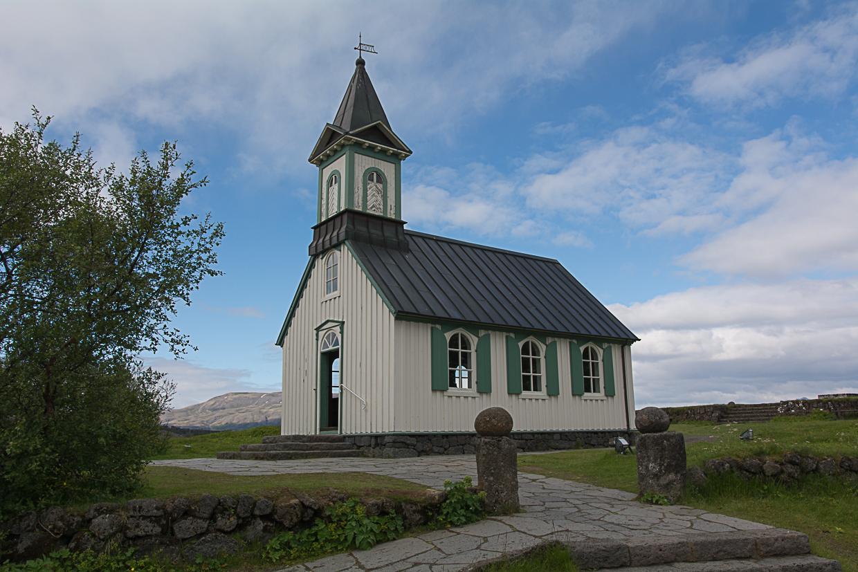 Þingvallakirkja, kościół w Parku Narodowym Thinvellir na Islandii