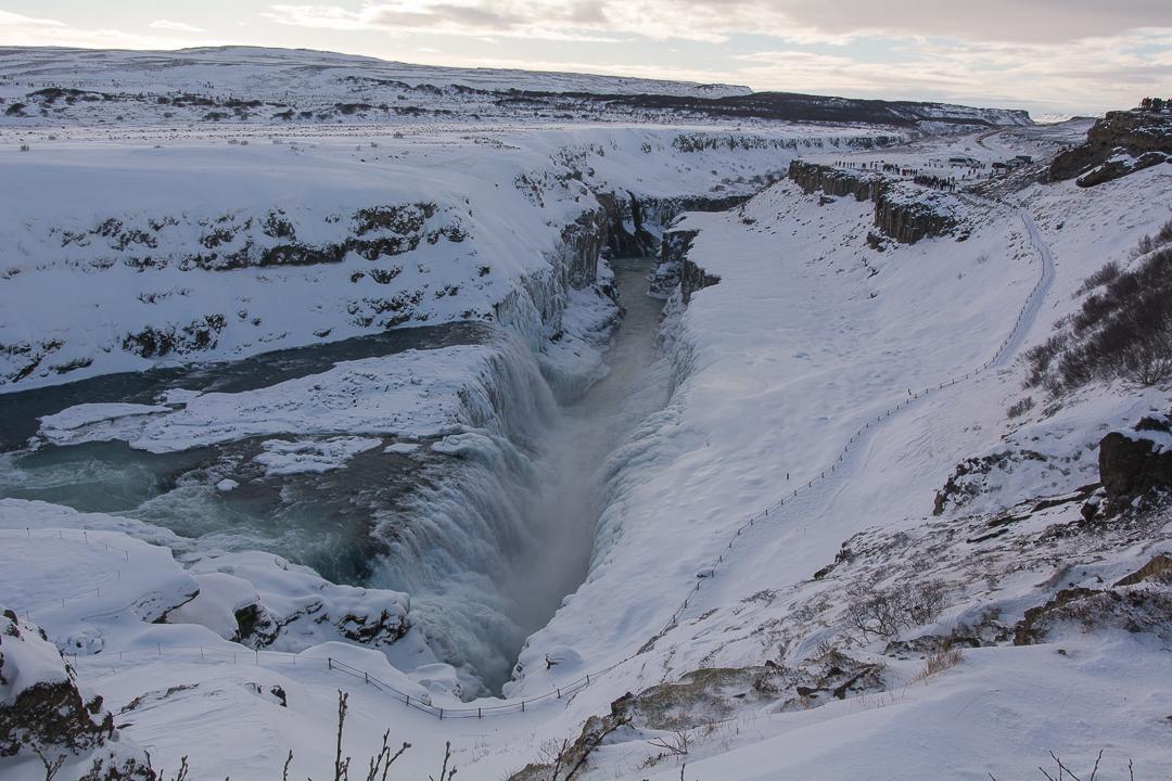 Gullfoss na Złotym Kręgu, Islandia