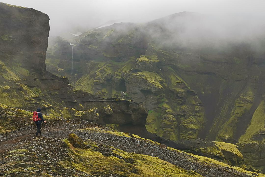 szlak czerwony na Mælifell, szlaki z Þakgil