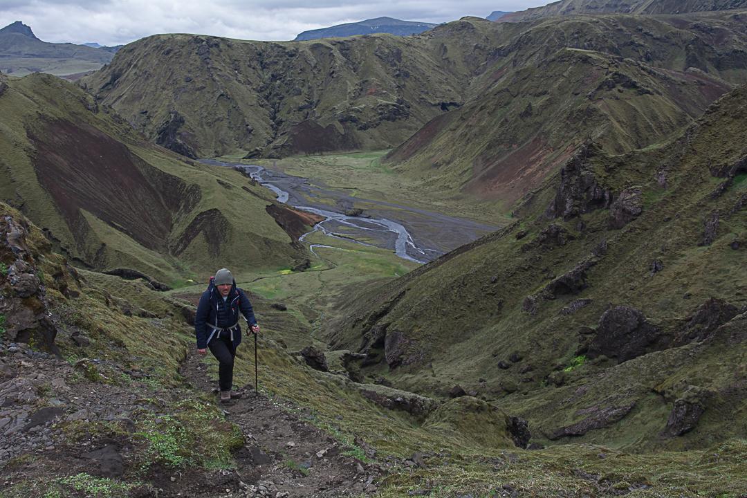 szlak fioletowy, widok na islandzkie lodowce, Myrdarsjokull