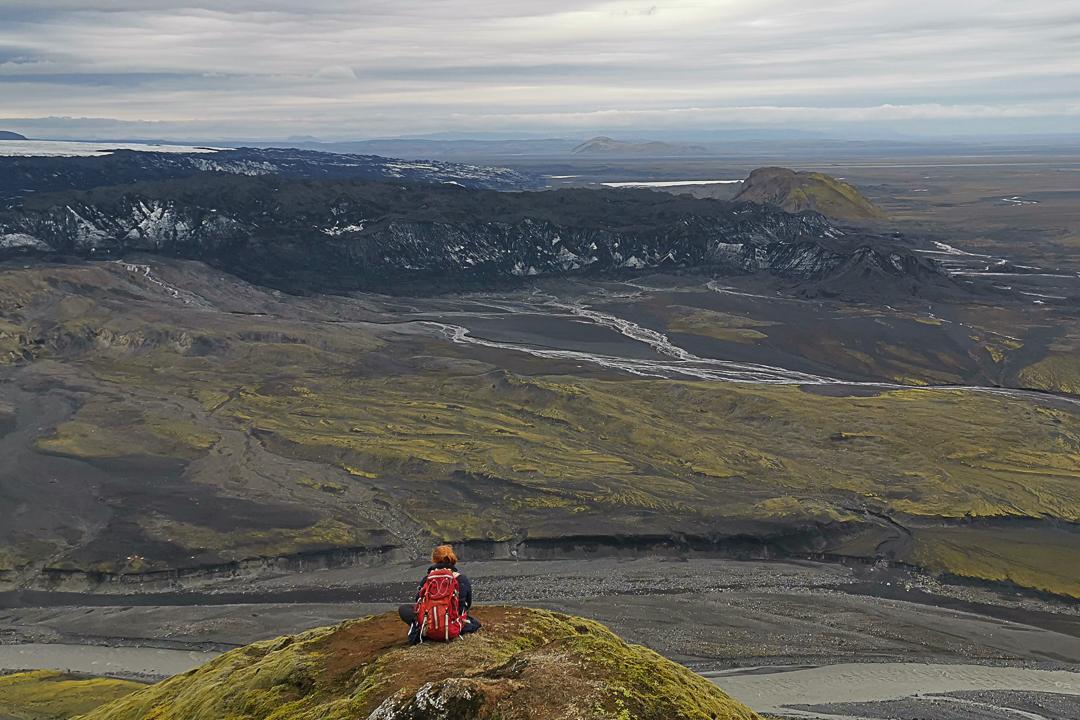 szlak fioletowy, szlak z widokiem na Kötlujökull