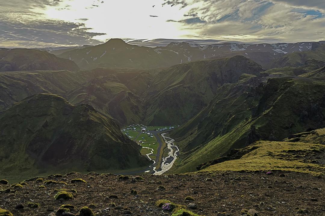 kemping Þakgil, południowa Islandia