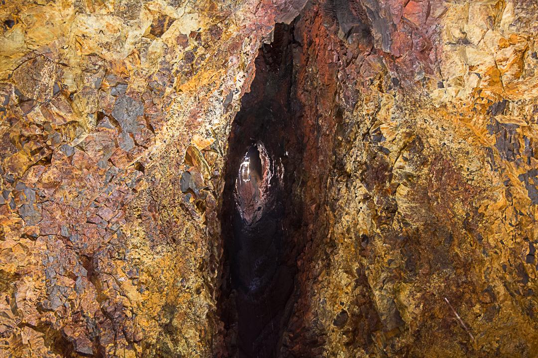 wulkan Þríhnúkagígur, zjazd do komory magmowej, Islandia