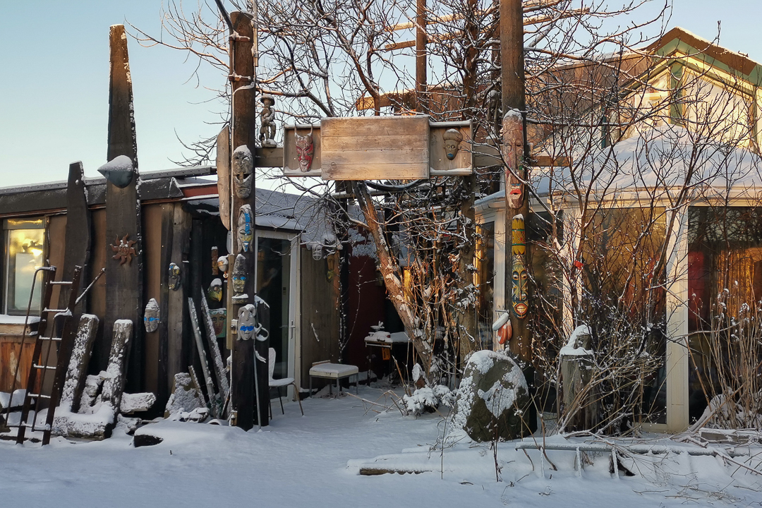 Hrafn Gunnlaugsson, recycled house, Reykjavik