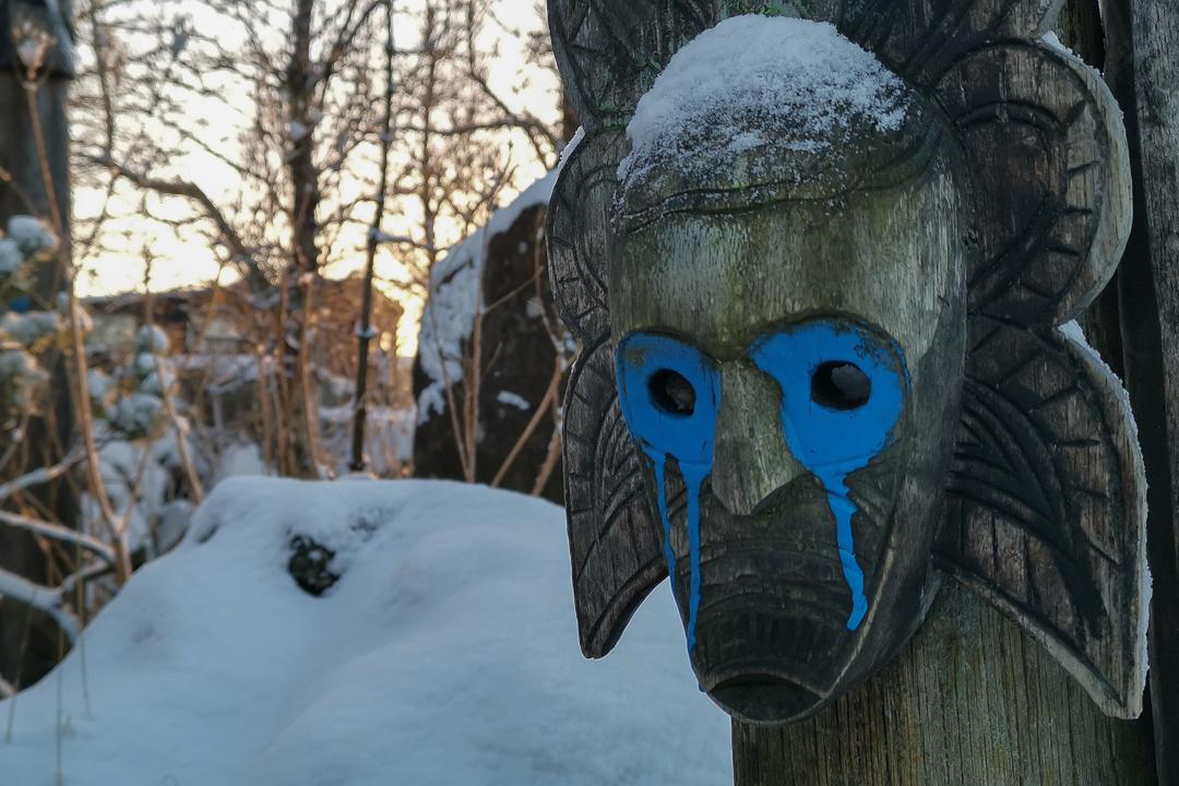 Hrafn Gunnlaugsson i jego gniazdo kruka